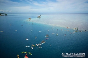 Tahiti SUP Race from the sky