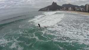 """Bird View"" Sup Surfing Ipanema - The Vaz Brothers"