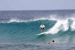 Surfing SUP at Wilderness Break in Puerto Rico